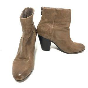 Vince Camuto 9 Hadley tan grey heeled booties